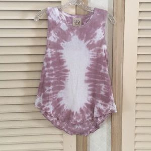 Chaser tie dye knotted back tank top